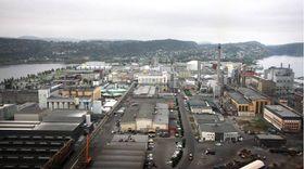 Nordic Blue Crude vil bygge en fabrikk for syntetisk diesel her på Herøya. På sikt er målet en 40.000 kvadratmeter stor fabrikk som produserer 100 liter petroleumsprodukter nesten fri for svovel og NOx.