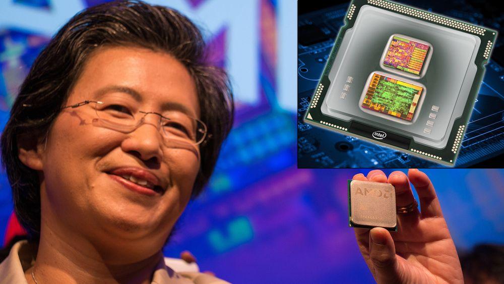 AMD-sjef Lisa Su viser frem «Zen» under Computex-pressekonferansen.