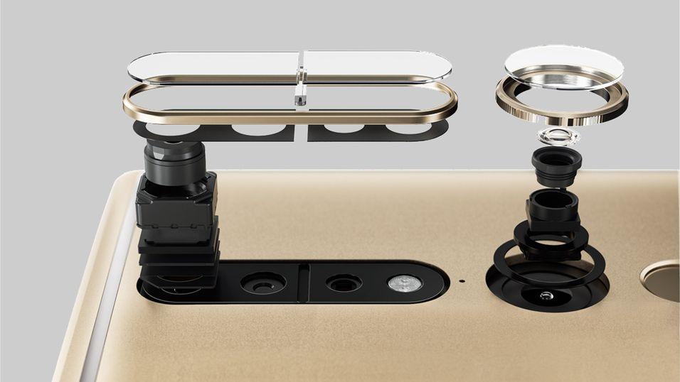 Tango-telefonene bruker flere kameraer og sensorer for å registrere dybdeinformasjon om omgivelsene.