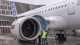 CFM Leap-1A-motorer på den første flygningen med A321 Neo i februar.
