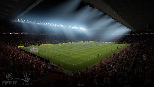 EA Sports har rådført seg hos Battlefield-skaperne i Dice for å lage realistisk flombelysning. Her på Old Trafford.
