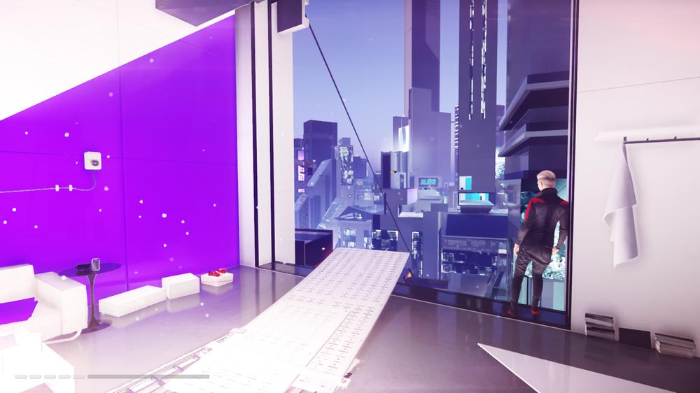 I likhet med andre åpne verdener har også City of Glass ulike frisoner, eller et såkalt «safe house» om du vil.
