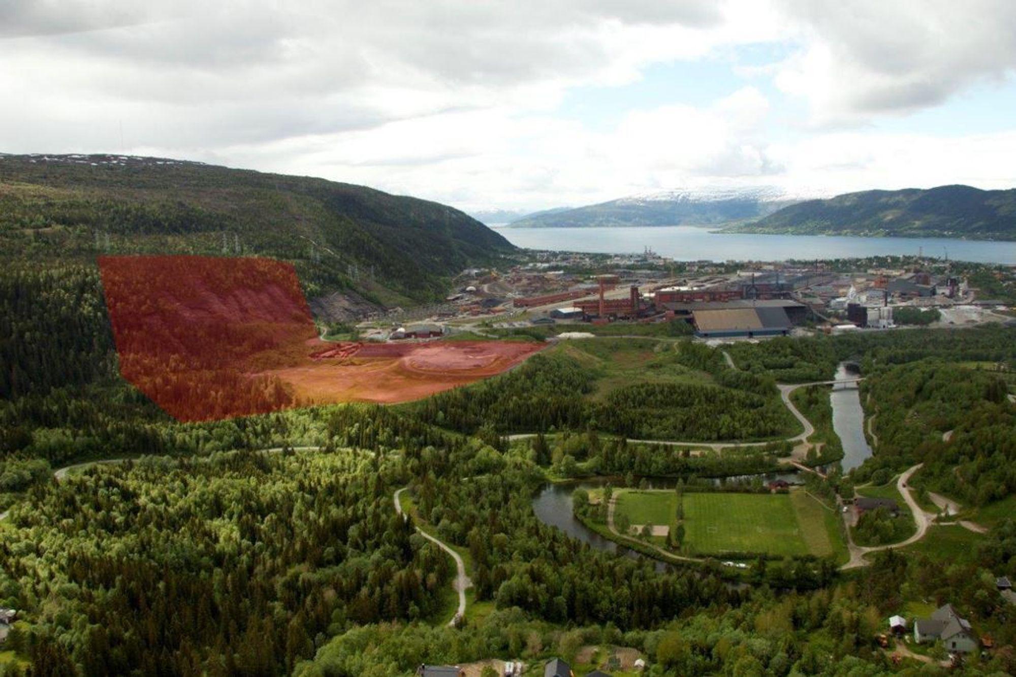Her i Mo i Rana i Nordland vil Arctic Circle Data Center bygge det nye datasenteret sitt i løpet av 2018. Tomta er på 200 000 kvadratmeter og er 50 meter over havnivå.