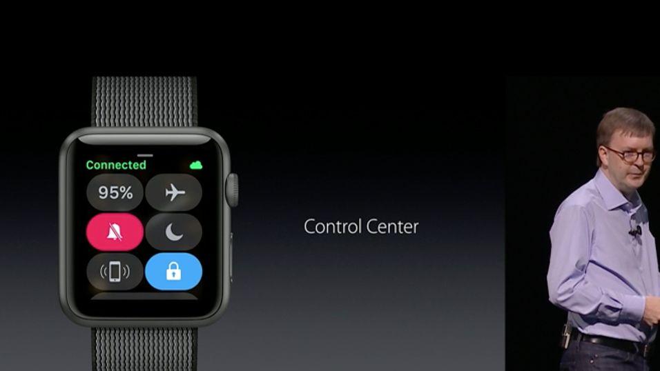 Kevin Lynch i Apple presenterer nye Watch OS 3.