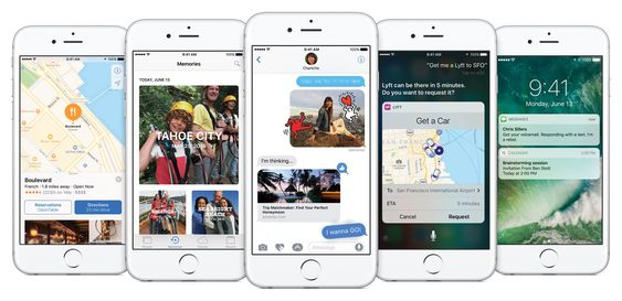 Slik presenterer Apple selv iOS 10.