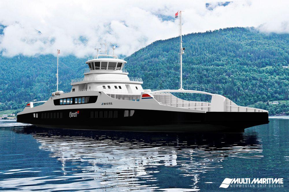 Multi Maritime har designet batterifergene for Fjord1. De vil få kapasitet på 120 biler, 12 vogntog og 349 passasjerer. Fra 1. januar 2018 skal de inn på Anda-Lote-strekningen.