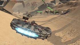 Spillet lar deg blant annet fly Millennium Falcon.