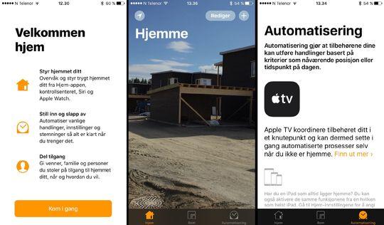 Den nye Hjem-appen brukes til å automatisere ting i hjemmet.