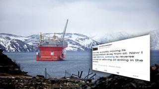Denne klimatweeten til Erna Solberg går verden rundt