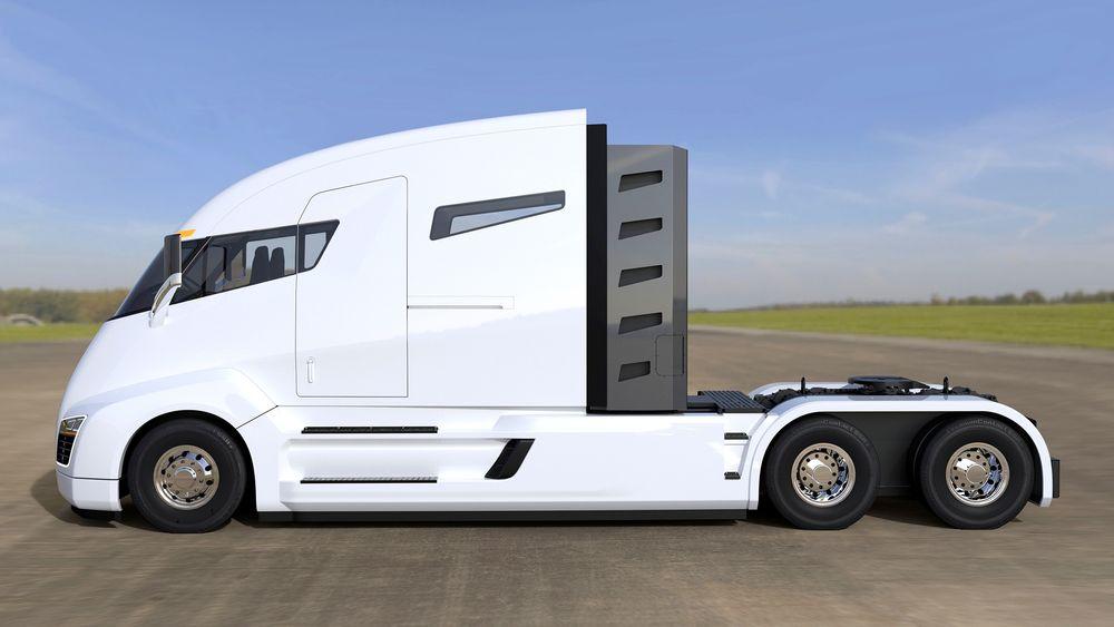 Nikola One er en planlagt trekkvogn med seks elmotorer som skal yte til sammen cirka 2000 hk/5000 Nm