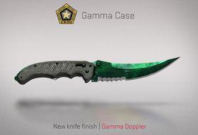 «Gamma Doppler» er ett av de nye utseendemulighetene man har på de orginale knivene.
