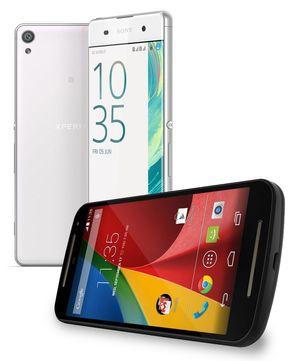 Xperia XA fra Sony og tredje generasjon Moto G fra Motorola. Sistnevnte koster bare 1500 kroner og er vesentlig bedre å bruke enn Sonys telefon. Billig kan altså være ganske så bra. Men hvor går grensen?