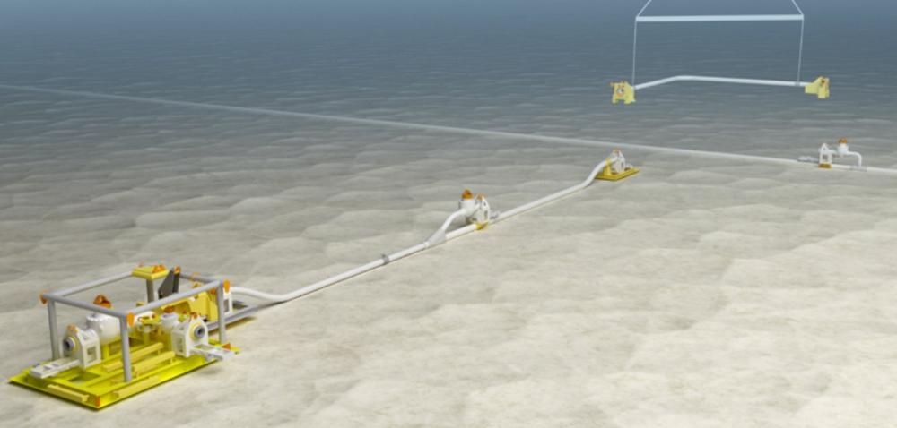 UNDER VANN: Nautilus Subsea har spesialisert seg på å kunne lage alle strukturer som trengs for å koble brønnen på havbunnen sammen med plattformen på havoverflaten. .