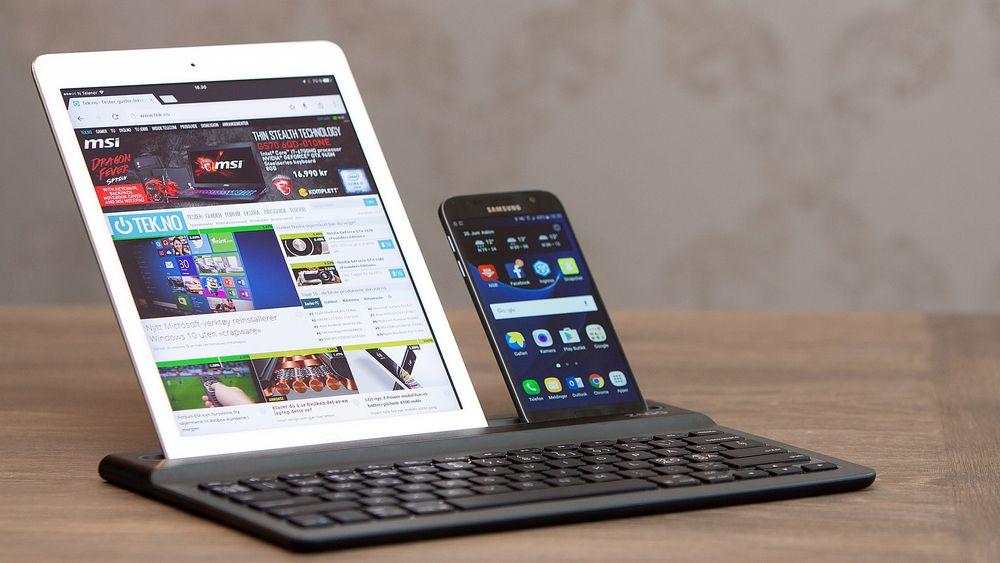 Zagg Limitless Keyboard har plass til både nettbrett og mobil ved siden av hverandre, og du kan koble til inntil tre enheter.