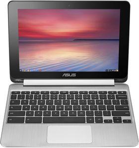 Aller først ut med Android-støtten er Asus Chromebook Flip C100PA, her avbildet.