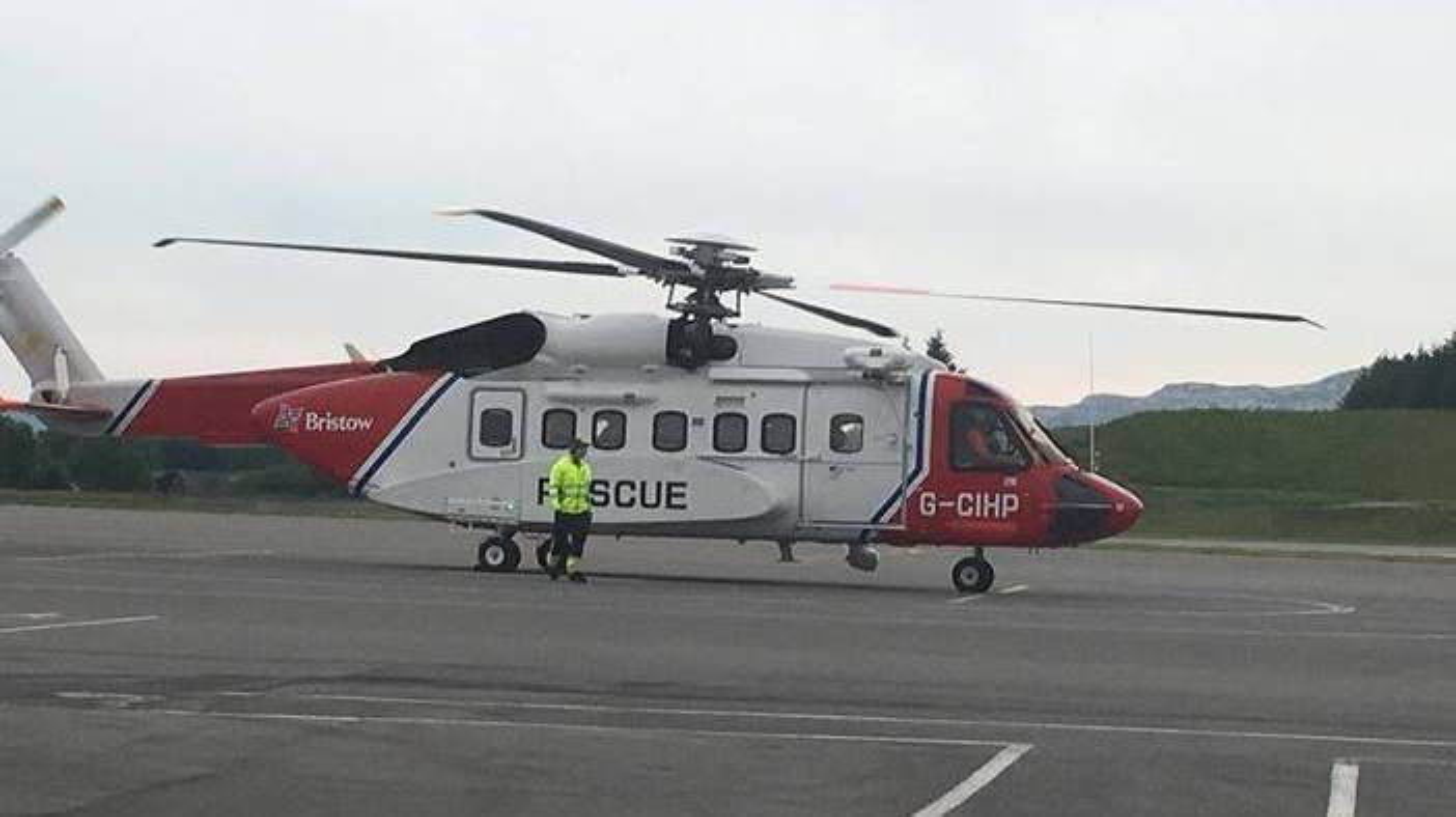 Sikorsky S-92A SAR på plass på Flesland.