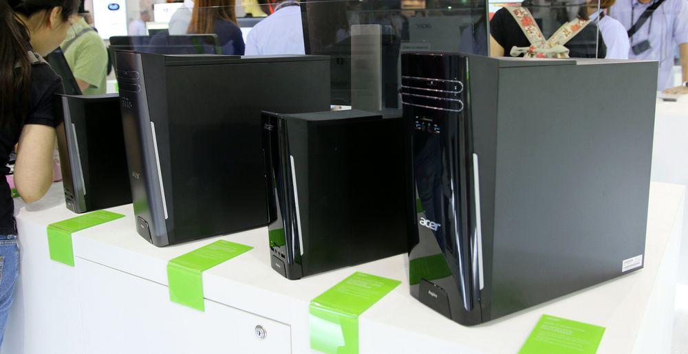 På toppen av disse PC-ene fra Acer sitter en integrert ladeplate for mobilen og annet som er kompatibelt med Qi-teknologien.