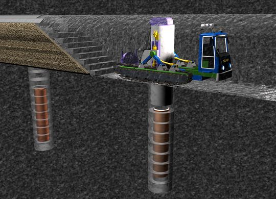 Uranbrenselet legges i rustfrie rør av kobber og støpejern som omsluttes av bentonitt som skal beskytte mot vann og bevegelser i fjellet Tunnelene fylles til slutt helt igjen.
