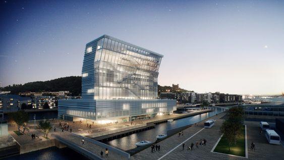 Omstridt: Noen mener at Lambda-bygget blir for dominerende, og mange mener fortsatt at Munchmuseet burde ha ligget på Tøyen.