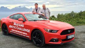 Henrik Borchgrevink og Knut Wilthil med bilen, en Ford Mustang med en 2.3-liters EcoBoost-motor med 317 HK.