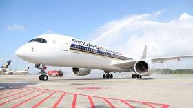 Singapore Airlines blir lanseringskunde på A350-900ULR om to år. Dette er en vanlig A350-900.