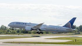 United Airlines flyr den hittil lengste dreamlinerruta med sin B787-9.