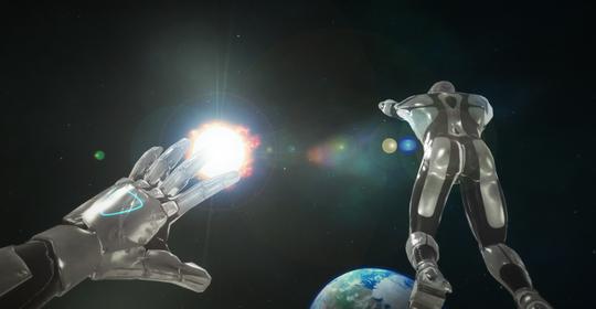Space Mission er det første spillet VR Games tilbyr.