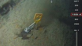 Støttefyllingen for ubåten ved Fedje er ferdig