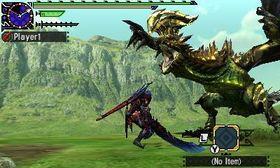 Skjermbilete frå Monster Hunter Generations.