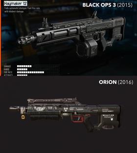 ORION-hagla skal ha henta grepetfrå Call of Duty-hagla.