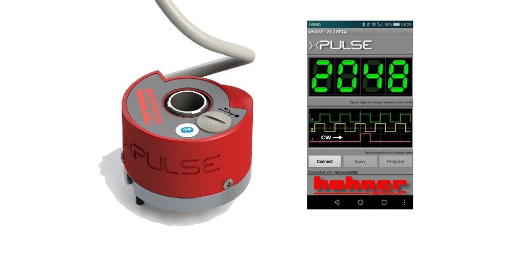 x-pulse inkrementell enkoder fra Hohner Group, distribuert av  FG-Tech