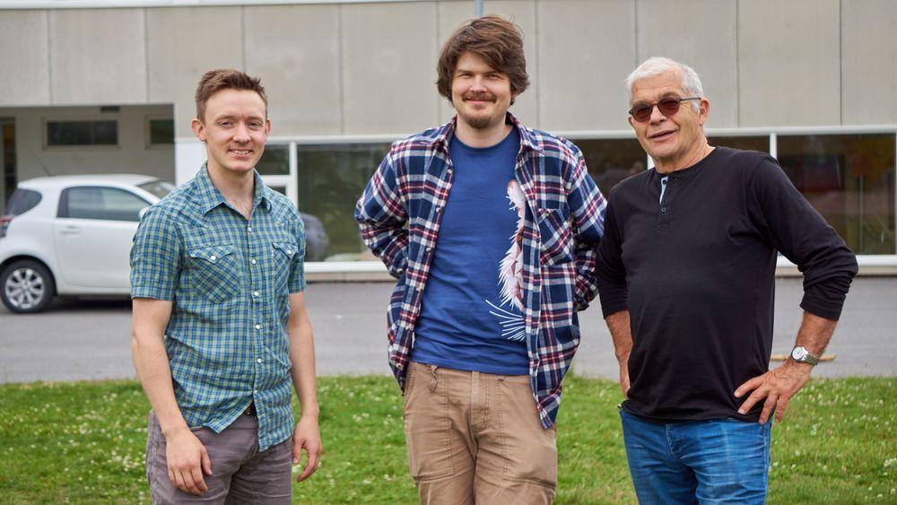 De tre ansvarlige bak dronekurset, fra venstre mot høyre: Vegard Sjøvik, Henning Pedersen og Einar Korbøl.