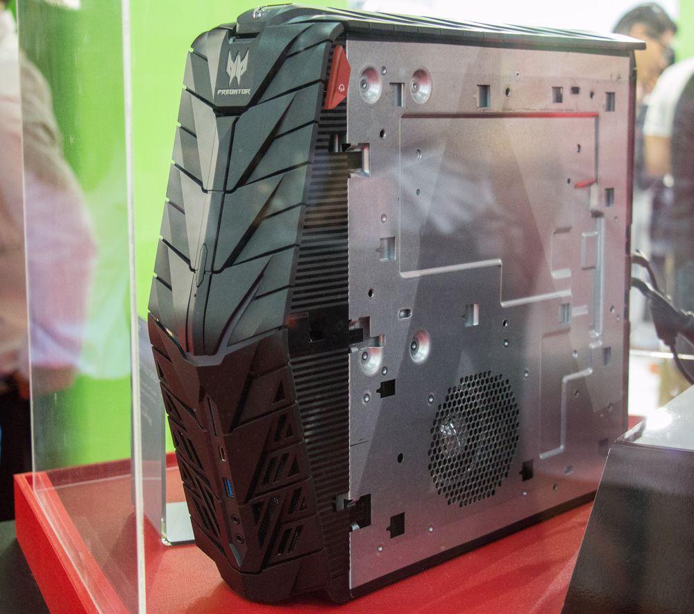 Acers Predator G1 er tynn, men ganske høy.