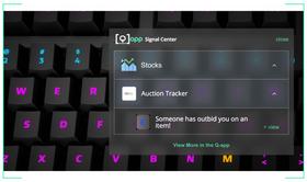 Tastaturet kommuniserer informasjon via Internett-kontrollerte lys på hver enkelt tast.