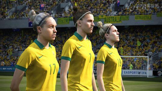 I FIFA 16 kunne man for første gang styre noen av verdens beste, kvinnelige fotballspillere.