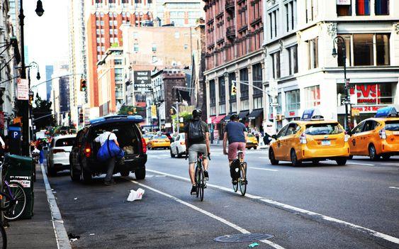 På vei hjem. Chelsea-distriktet på Manhattan er en del av Silicon Alley. Bedrifter som Google, Twitter og Uber har hovedkontor her.