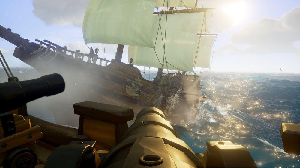 Noen oppgraderte kanoner gjør susen i et sjøslag.