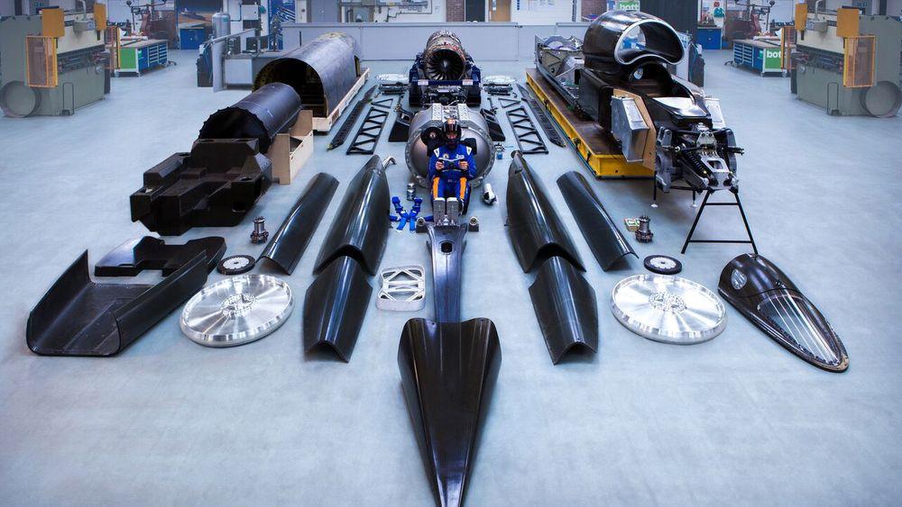 Her er alle komponentene på det som om et drøyt år etter planen blir verdens raskeste landkjøretøy.