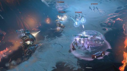 Strategisk plasserte kraftfelt beskytter deg mot fiendenes angrep.