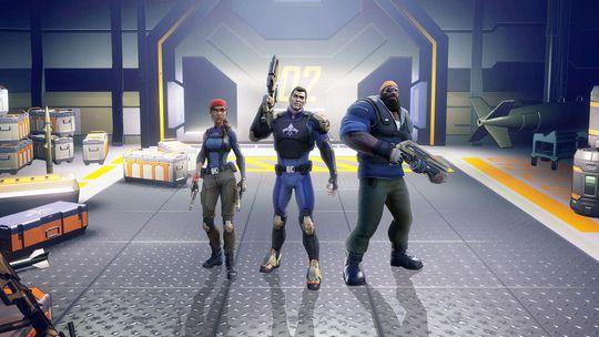 I Agents of Mayhem velger du tre agenter du vil ta med i kamp.
