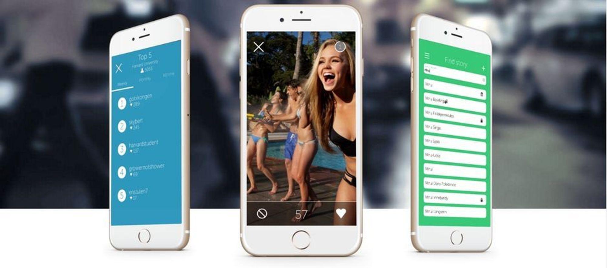 Appen fokuserer på dele bilder og video i grupper der alle kan bidra.