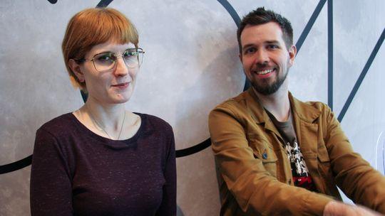 Karla Zimonja og Steve Gaynor under årets E3-messe.
