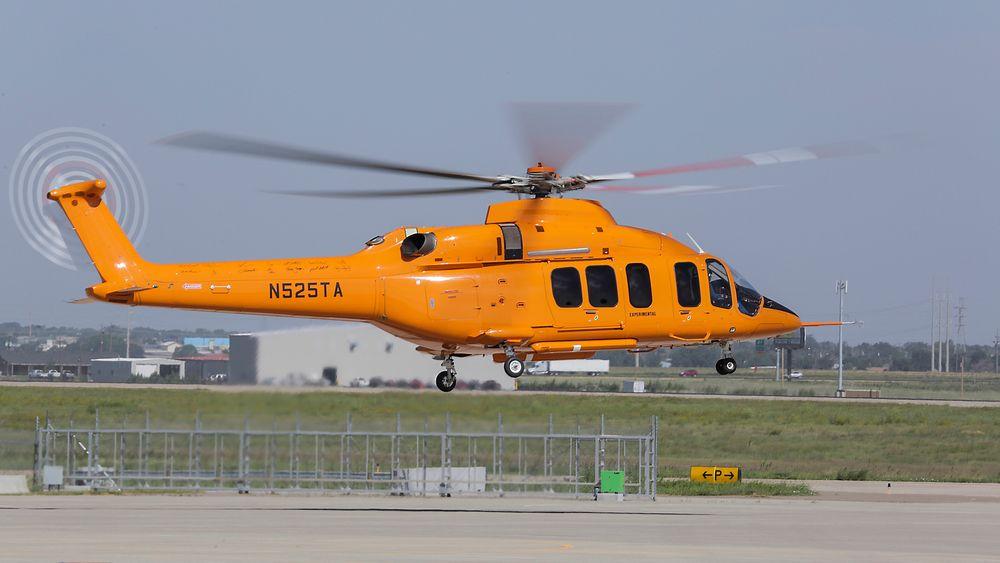 Det var dette Bell 525 Relentless-helikopteret som havarerte onsdag. Bildet er fra den første flygningen, 1. juli i fjor.