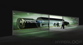 Slik ser Hyperloop One for seg at boardingen av systemet deres kan se ut.