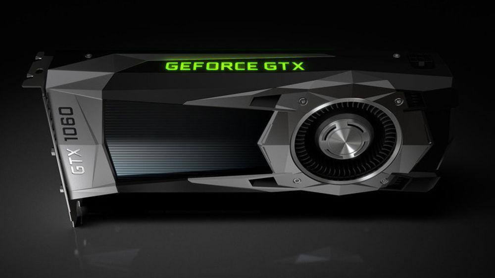 Nvidias GeForce GTX 1060 Founders Edition.