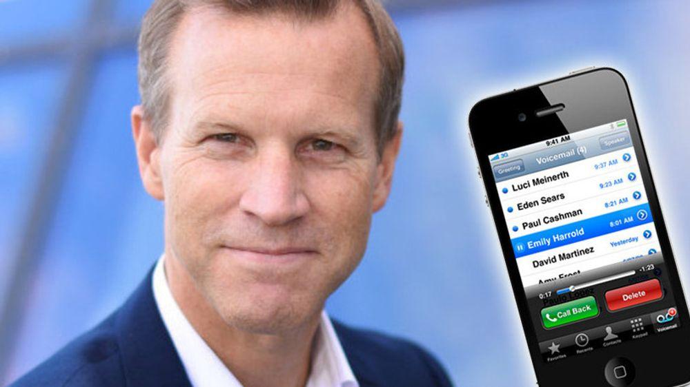 2009 ringte: Telenor og informasjonssjef Anders Krokan kan omsider lansere visual voicemail til kunder med iPhone, noe andre teleselskaper kom med for over 7 år siden.
