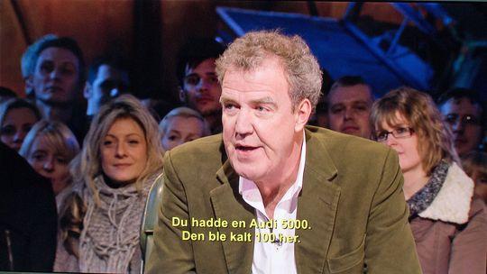 Jeremy Clarkson blir hakket skarpere med litt hjelp fra TV-en.