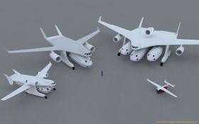 Fire varianter av det modulære Clip-Air-konseptet.