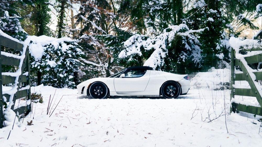 Tesla Roadster slik den ble markedsført i Norge for noen år siden.
