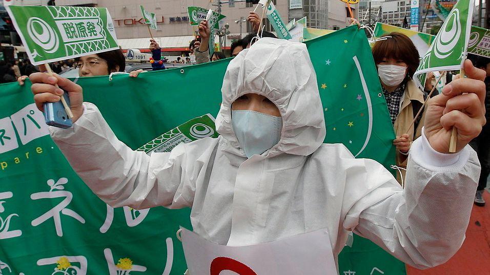 Japan kjernekraft atomkraft Tokyo Fukushima atomreaktorer kjernekraftverk demonstrasjon